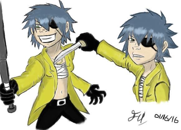 Noodle as Majima Goro 2 by Fil101