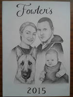 Fowlers family portrait by davidsteeleartworks