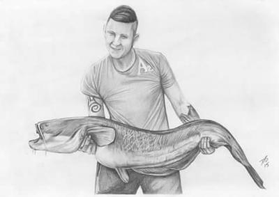 Portrait of fisherman by davidsteeleartworks