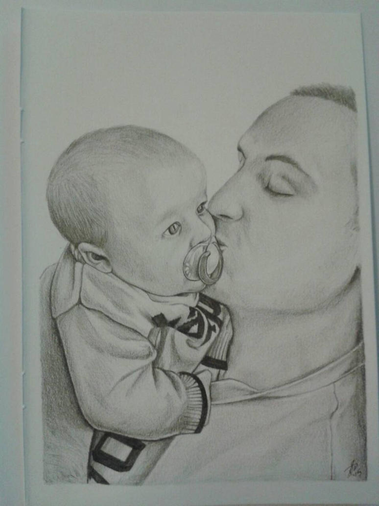 Father's kiss by davidsteeleartworks