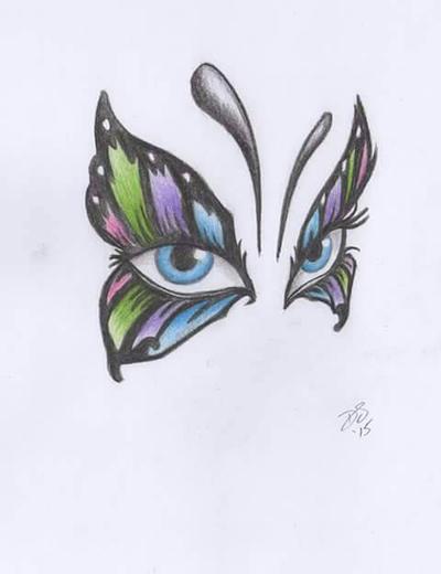 Butterfly Eyes by davidsteeleartworks