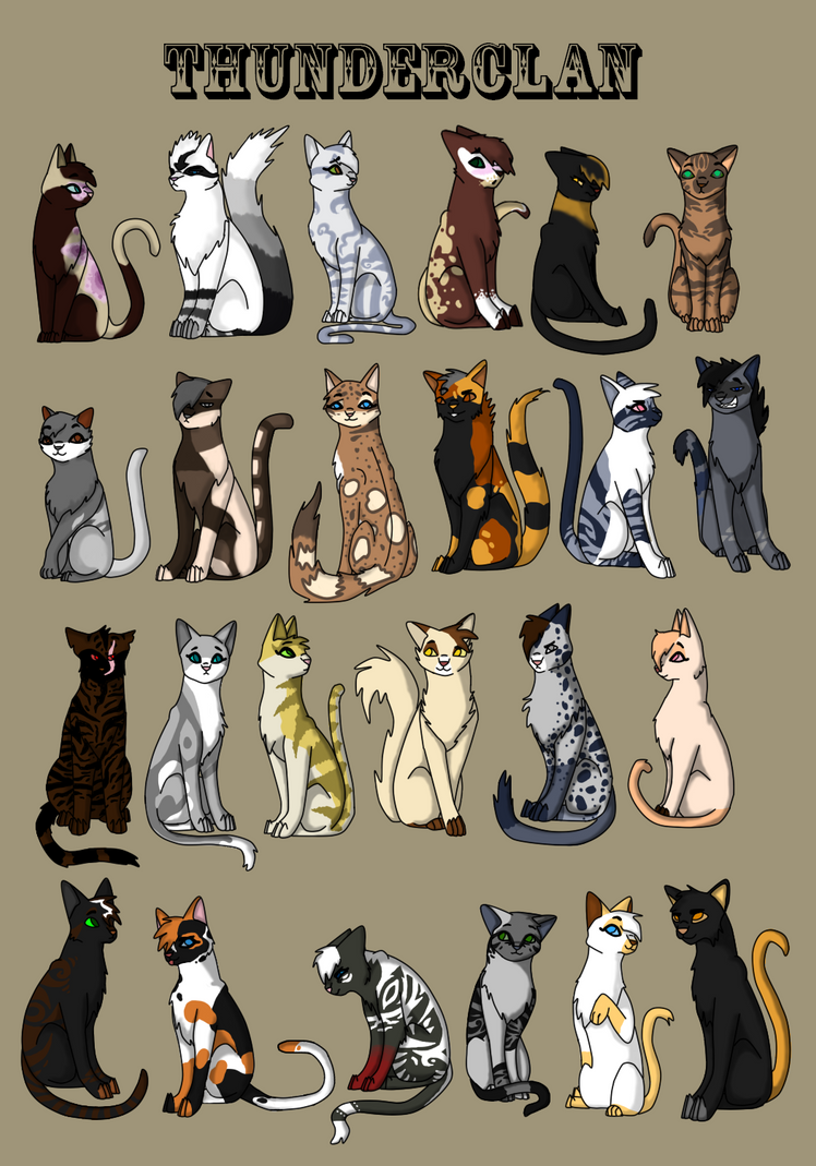 ThunderClan's Members by RiverPanther