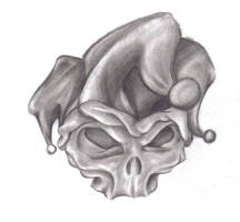 jester skull by baglady419