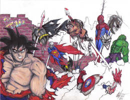 Goku Battle by Swuift