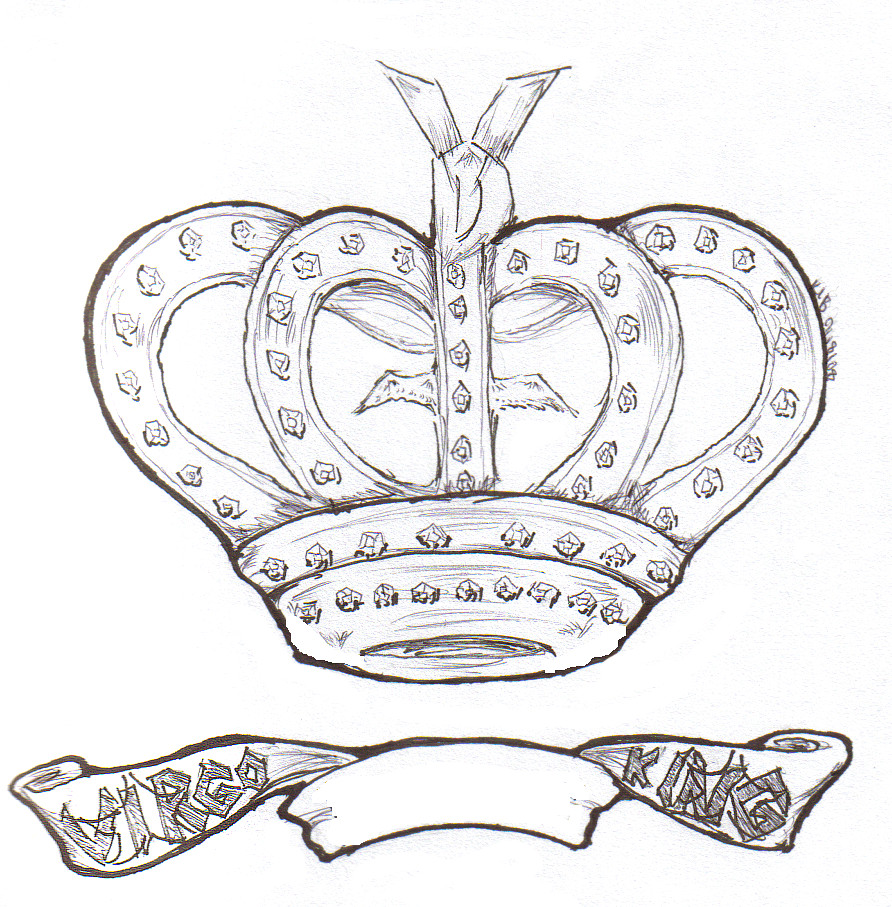 King Crown Drawing | New Calendar Template Site