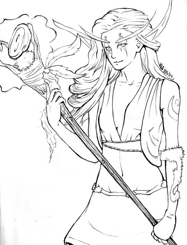 Drawing Lines In Dreamweaver : Night elf by dark spectrum on deviantart