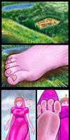 Princess bubble gum giantess