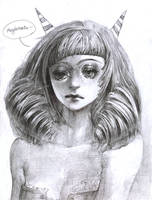 little, devil, permed girl by 12x07