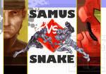 Samus VS Snake COVER