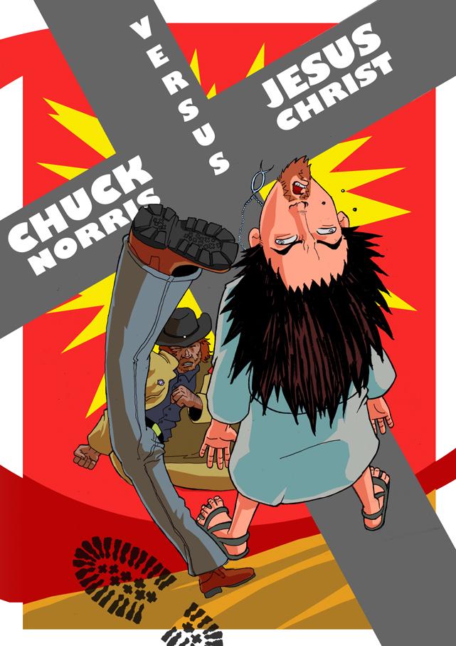 Chuck VS Jesus COVER by FanWrks