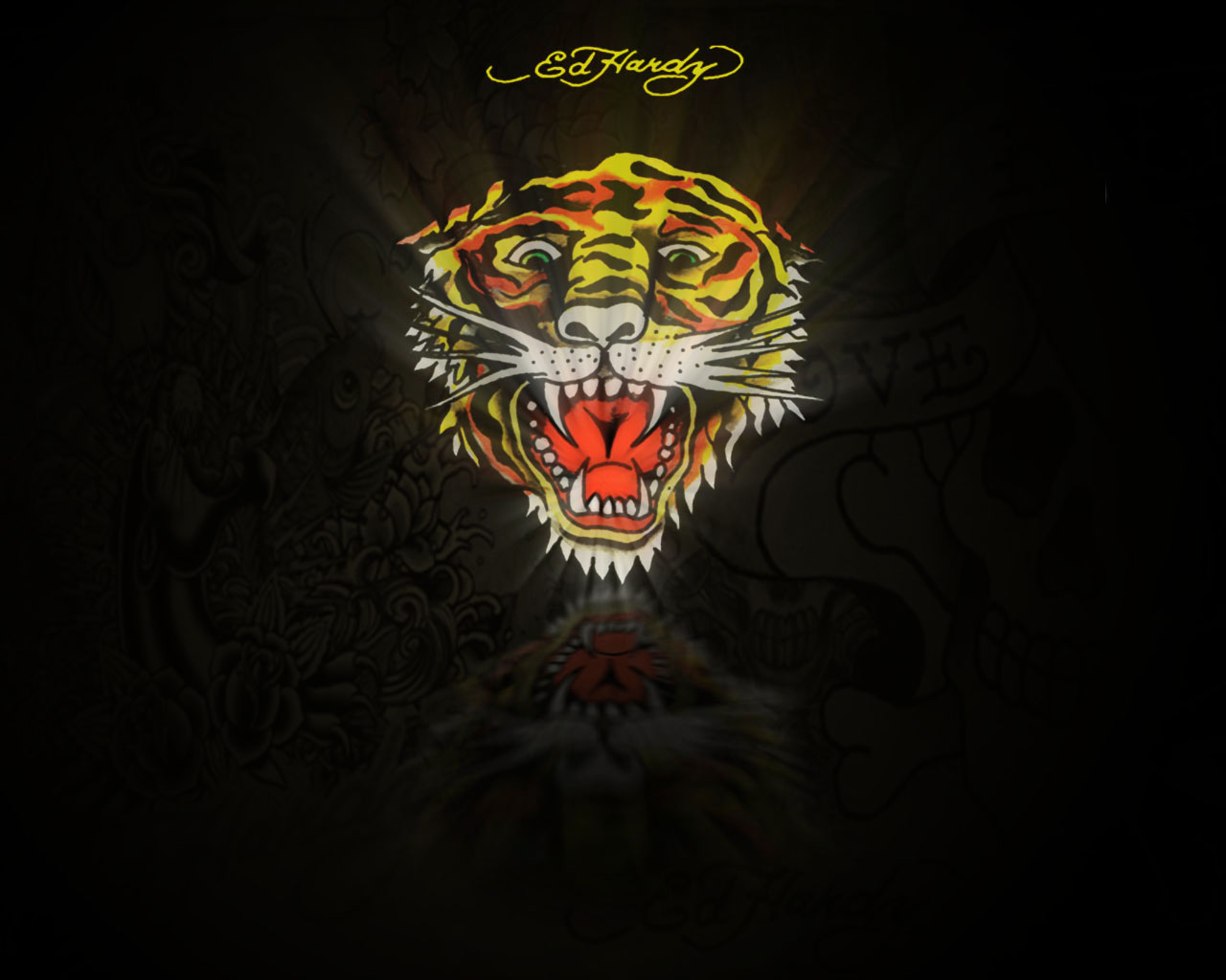 Ed Hardy Rose Wallpaper By