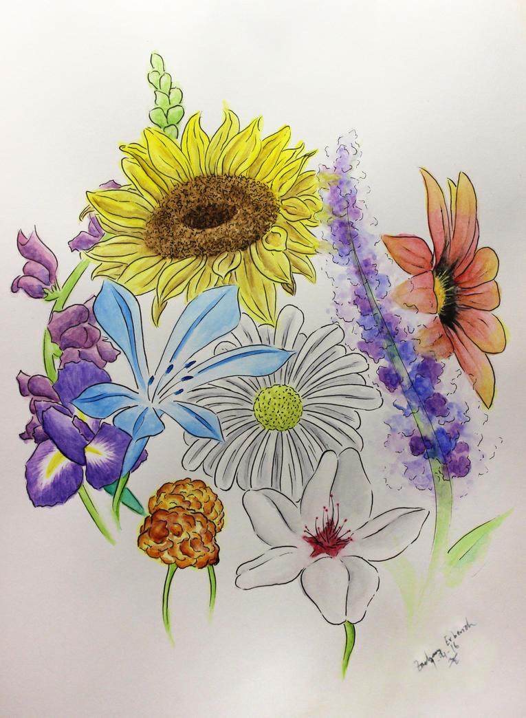 Watercolor Flowers by jack12321