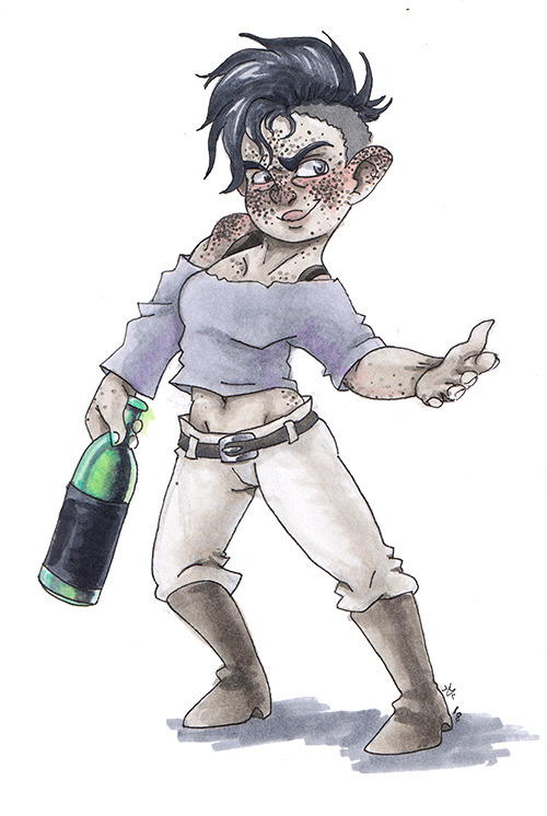 Halfling Monk by Reepicheep-chan