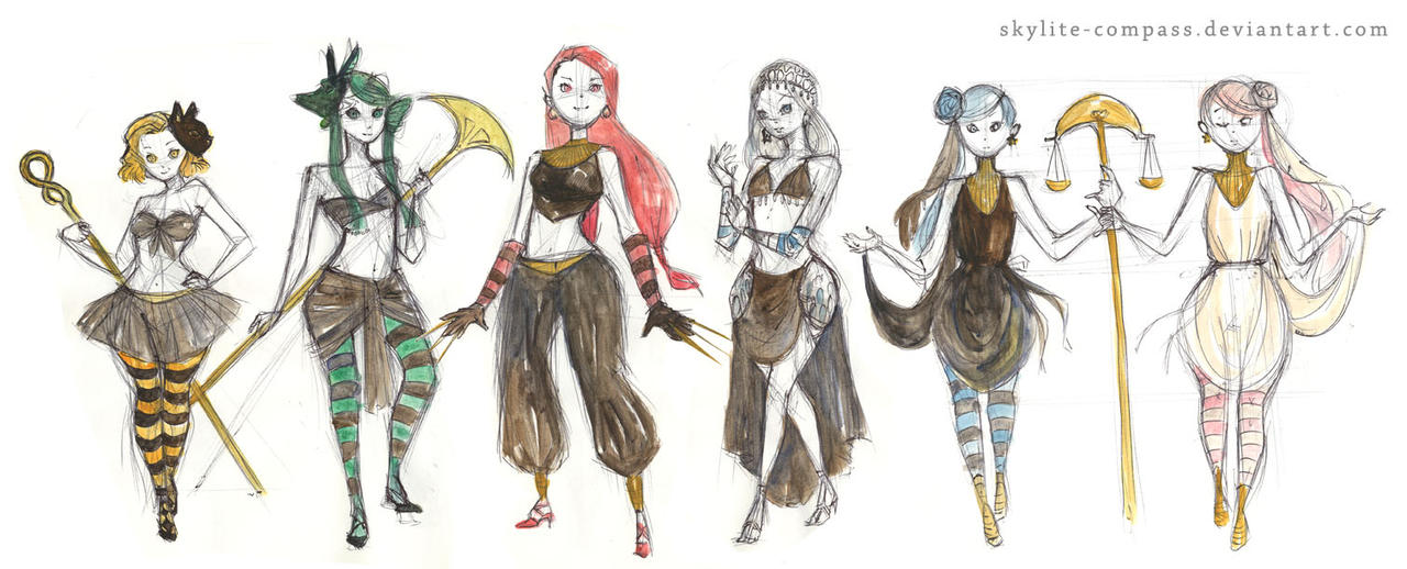 Witches 5 - redesign sketch by skylite-compass