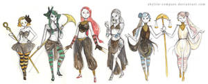 Witches 5 - redesign sketch by studiowaka