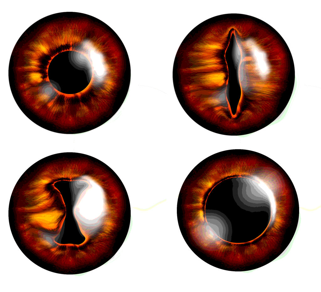 Фотошоп как сделать глаза демона