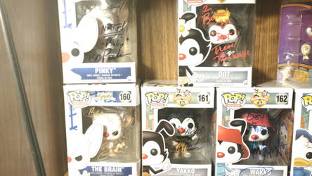 Animaniacs/Pinky and the Brain Funko Pops Signed