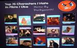 Top 15 Characters I hate in films I like