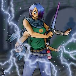 A Barrier of Lightning by AzaleaCloud