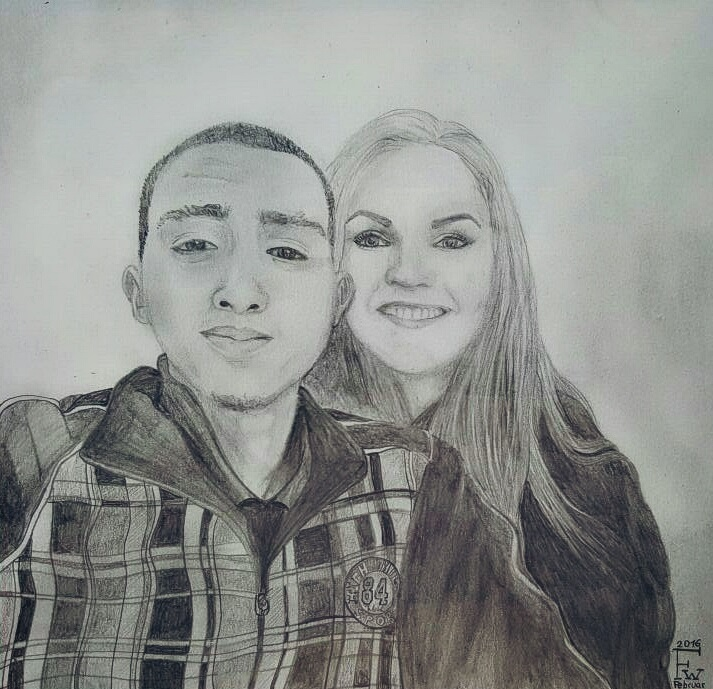 People drawing portrait by francyliiu
