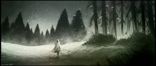 Walking into Winter by artificialdesign