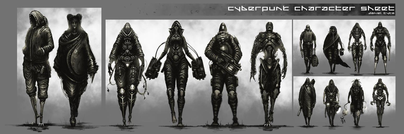 Cyberpunk Character Sheet by artificialdesign