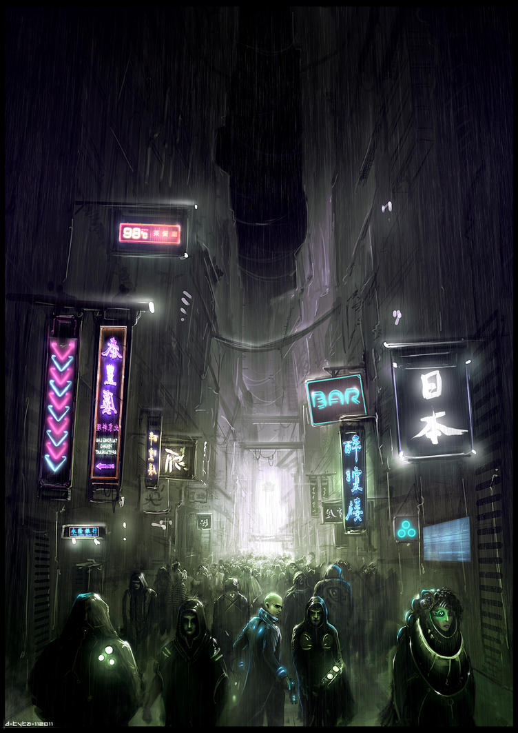 Cyberpunk Book Cover by artificialdesign
