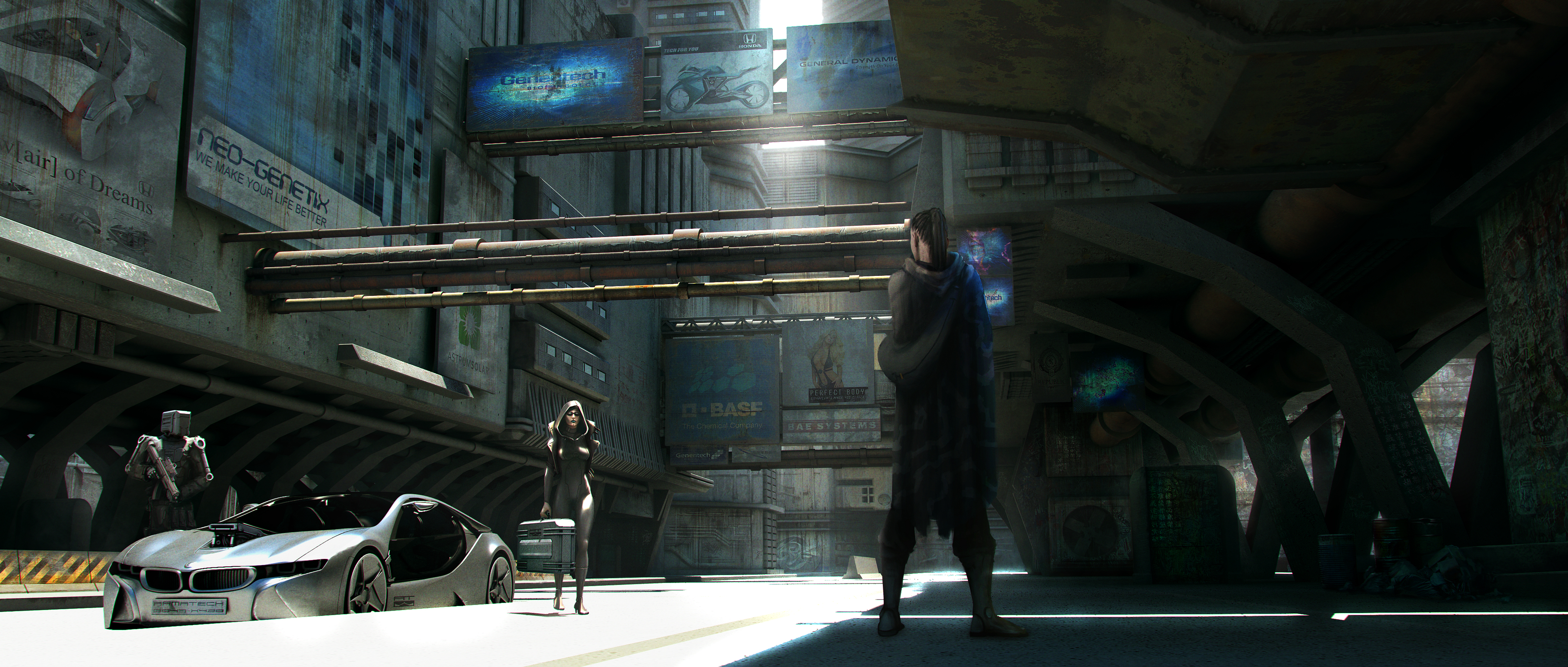 Back Alley Meeting by artificialdesign