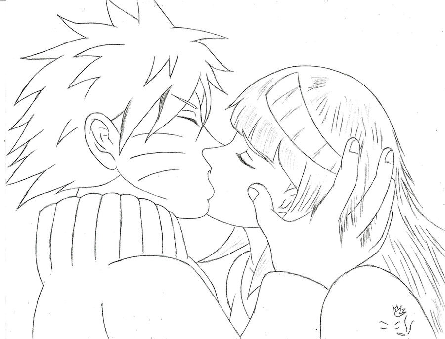 naruhina kiss by davonne