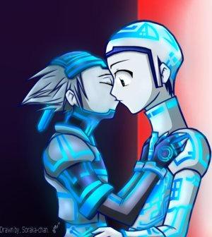 TronxSora kiss- uknownprincess by SoraxTron