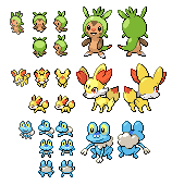 Gen 6 sprites by Kyle-Dove