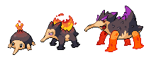 Fire / Poison Starter by Kyle-Dove