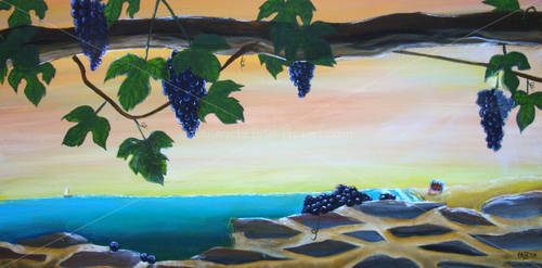 commission: wine-scape by vicber