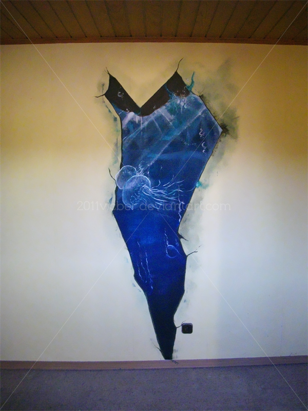 abandoned ocean mural