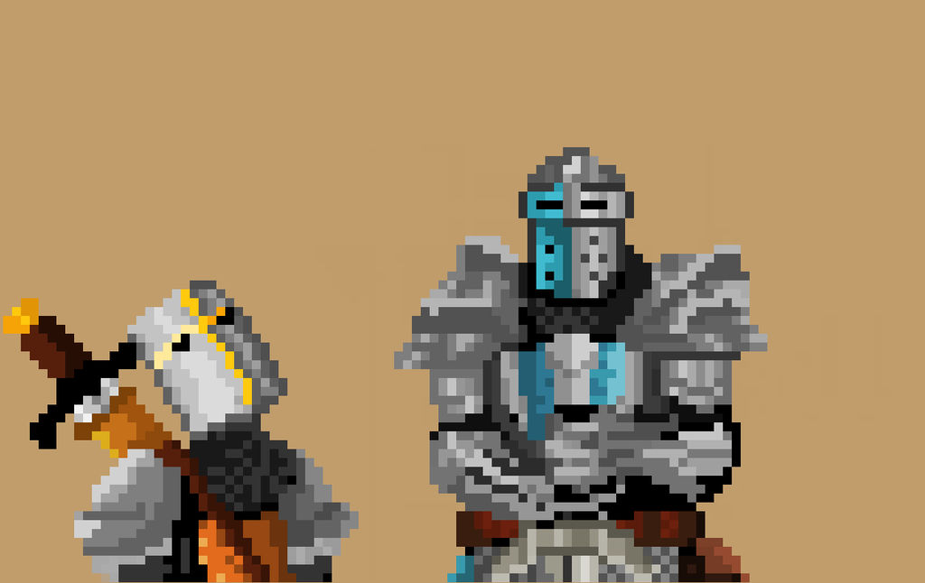 Chevaliers Pixel Art By Tsukasam On Deviantart