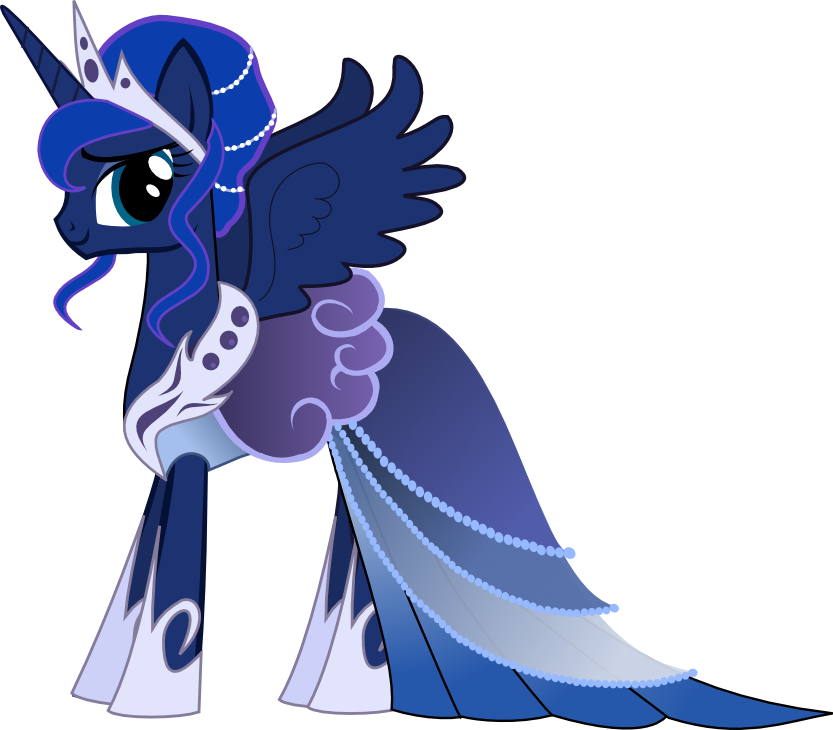 Princess Luna Gala Dress By Senwyn1 On Deviantart