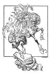 Centaur Knight by johnsonverse