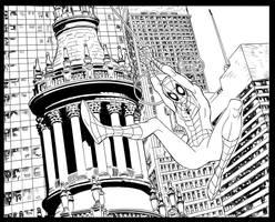 Spidey swings by johnsonverse