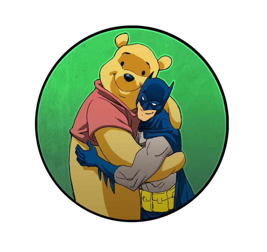 Batman and Pooh by johnsonverse