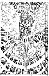 Dark-phoenix commission by johnsonverse