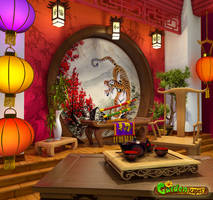 room in the Chinese style