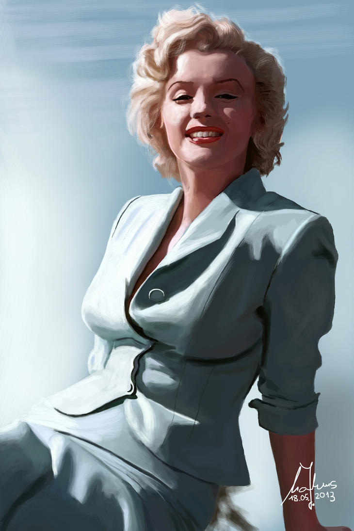 Marilyn Monroe 3 by Parziwal