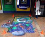BNZ 3D pavement art commission