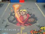 3D shoryuKEN pavement art