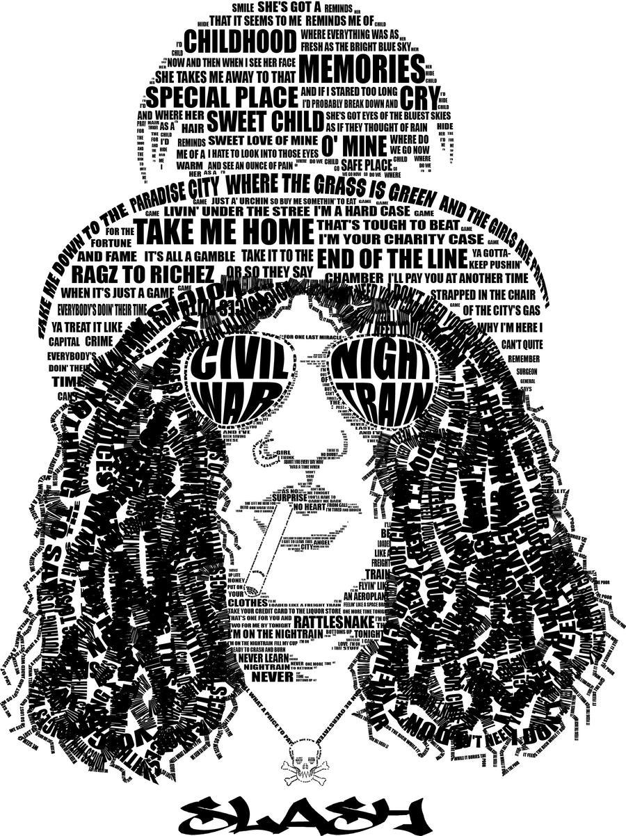 Slash Type Portrait by Raw-ink
