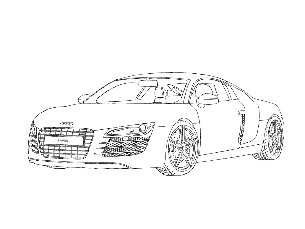 audi r8 line art by axial97 on deviantart