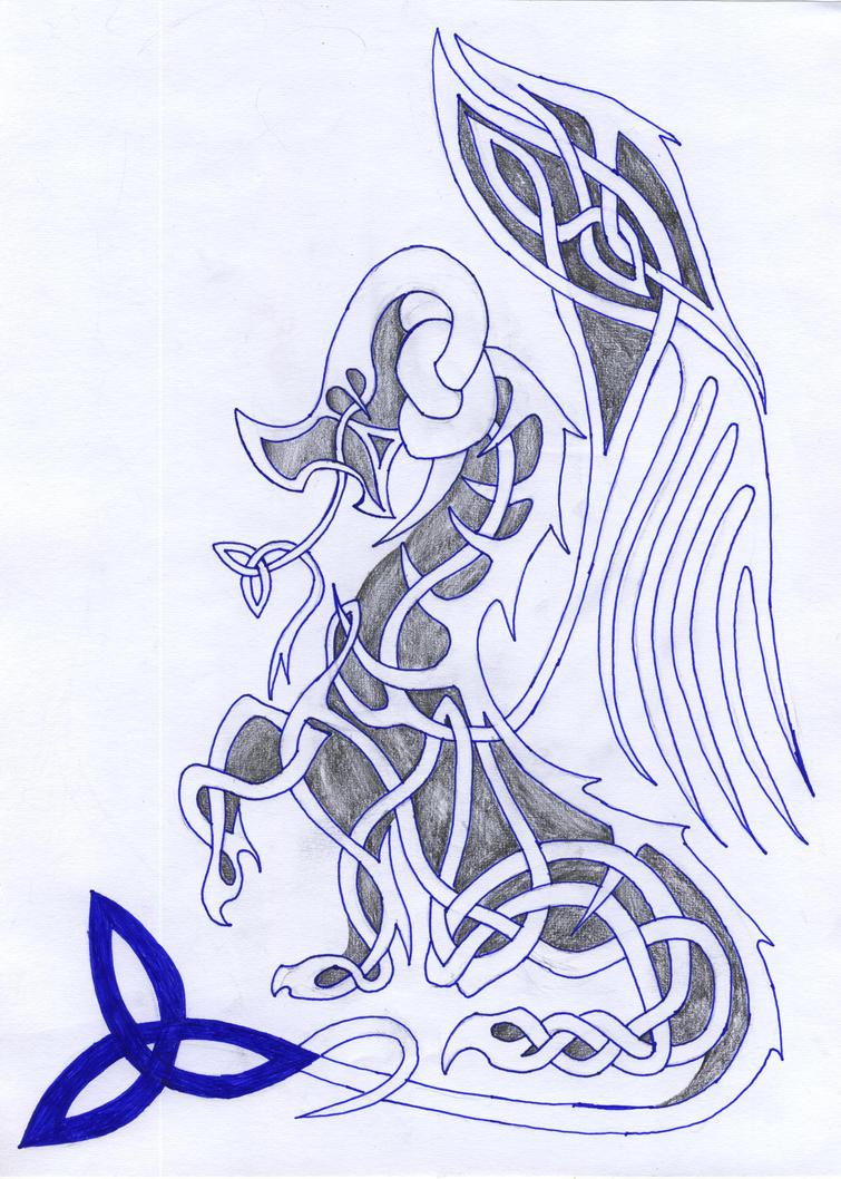 Celtic Dragon by fitipaldi93