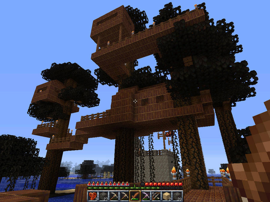 my minecraft treehouse by fitipaldi93