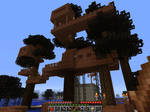 my minecraft treehouse
