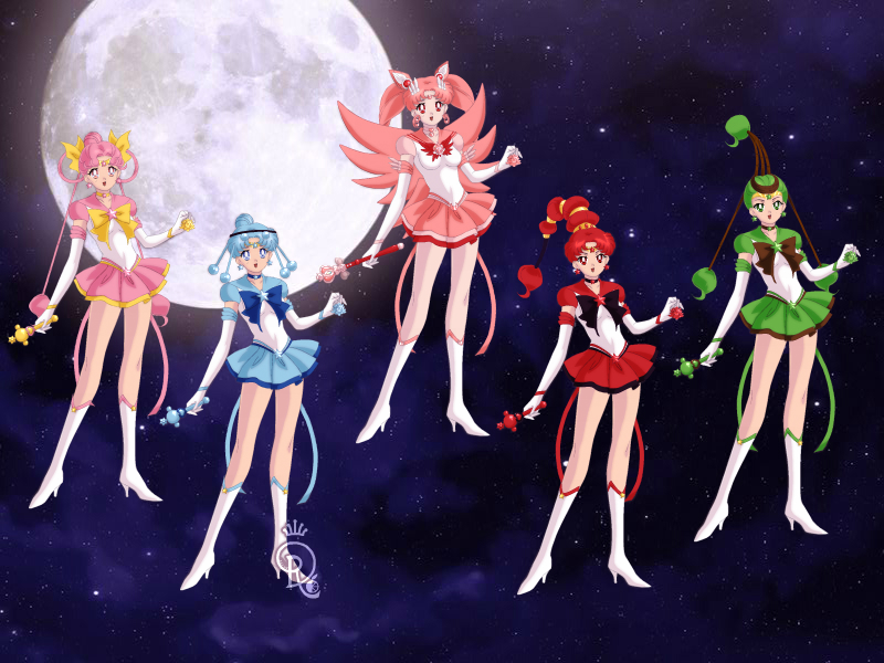 neo moon and sailor quartet by sailorrose92